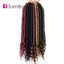 Sambraid Гавана Весна Вьющиеся Сенегальские twsit крючком косы syntehtic наращивание волос 12 дюймов 12 прядей/упаковка для женщин