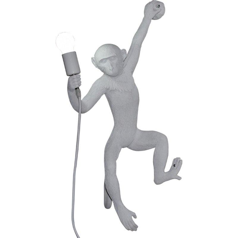 E27 LED Scimmia Resina Lampada Da Parete Personalità di Colore Solido 3D Animale Illuminazione LED A Parete Per Soggiorno camera Da Letto Foyer