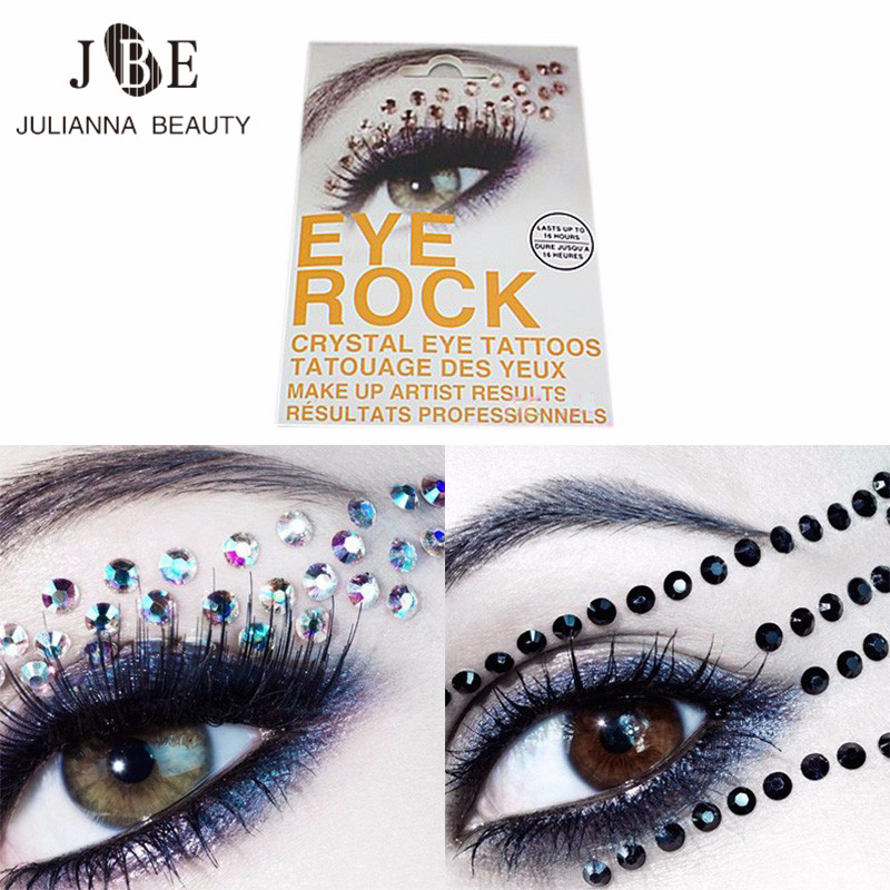 1 pair jewel eyes makeup crystal eyes sticker tattoo for Crystal eye tattoos