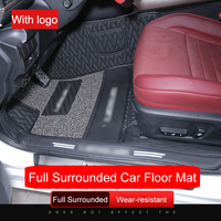 QHCP Leather Car Floor Mat Wire Mat Foot Boot Carpet All Surrounded Design Car Step Mat 5 Seats Special For Lexus IS200T 250 300
