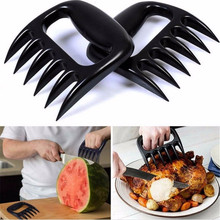2PC/Set Bear Claws Barbecue Fork Tongs Pull Meat Shred Pork Clamp Roasting Black BBQ Set Tool Tong Pulled
