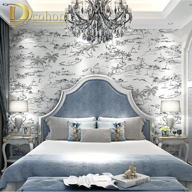 Faszinierende Kombination Braun Und Blau Schlafzimmer Die