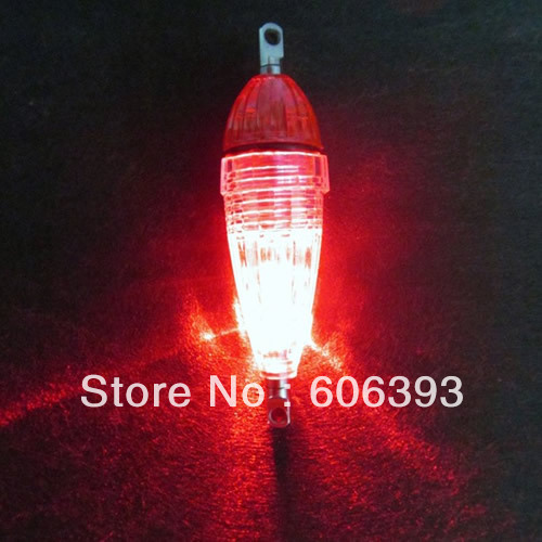5 Pcs/lot LED Mini Deep Drop Underwater Fishing Squid Bait Lure Light Red Flashing