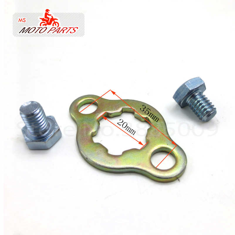 Pignon de moteur avant 520 #14 T dents 20mm pour 520 chaîne avec plaque de retenue casier moto Dirt Bike ATV pièces