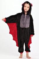 Hot Bat Children Kids Flannel Animal Pajamas Anime Cartoon Costumes Sleepwear Cosplay Onesies