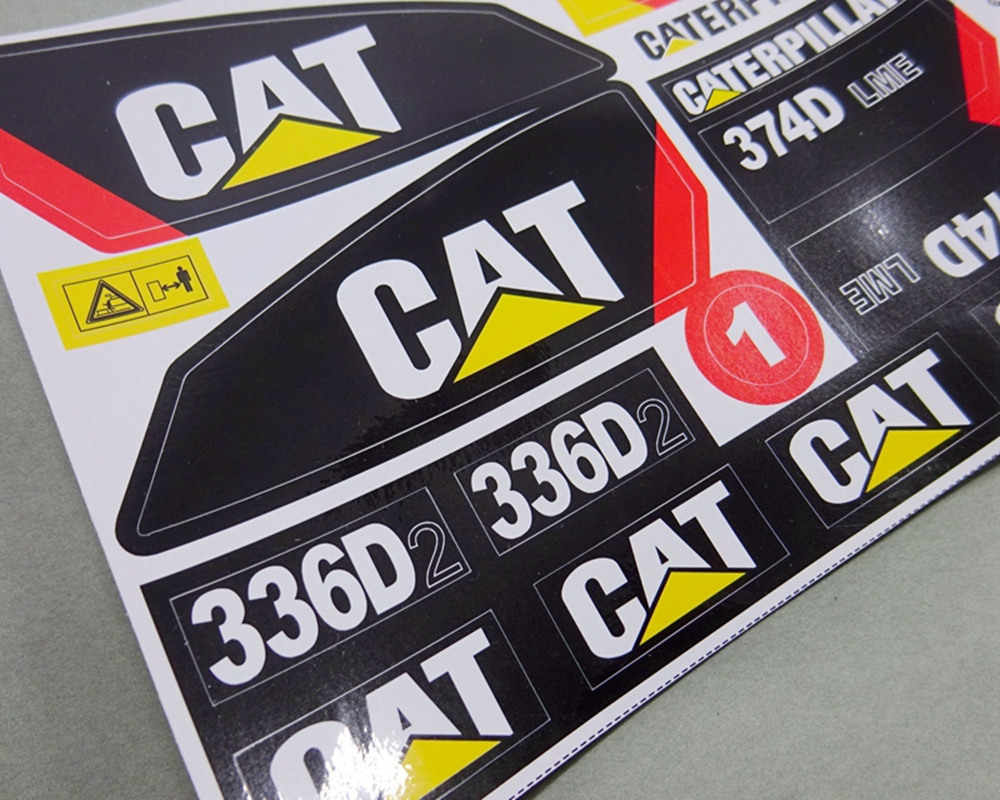 New rc excavator waterproof adhesive sticker decals for caterpillar 1 12th scale rc excavator 336d2