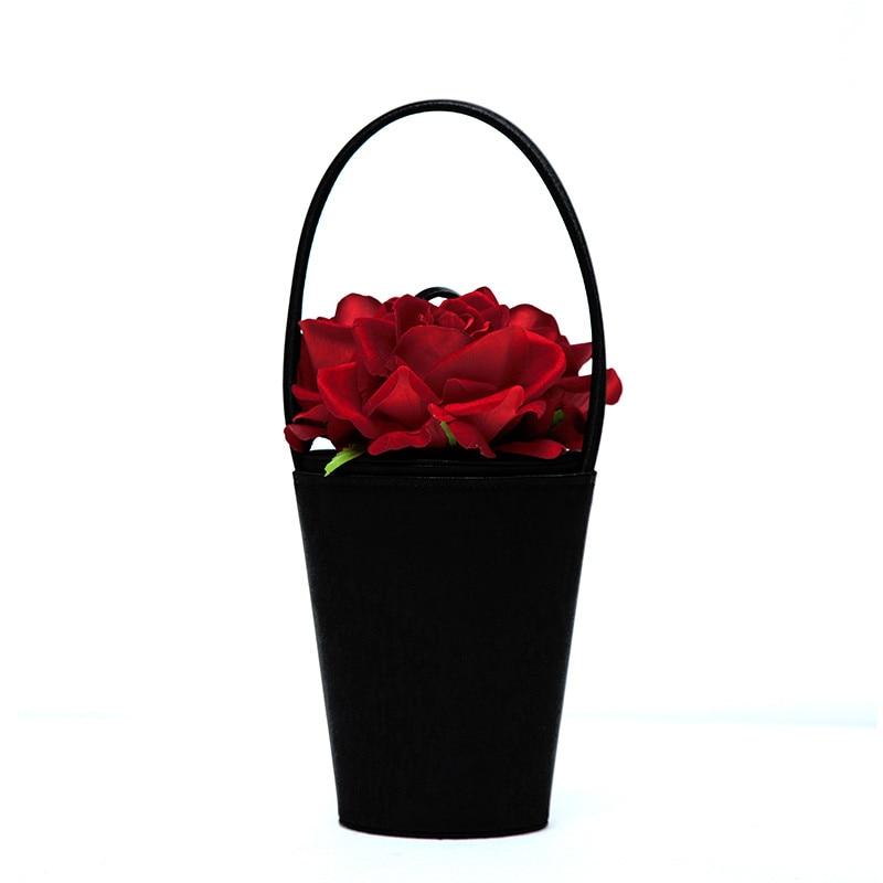 2017 NEW fashion retro women handbag Handmade Rose Flower ...
