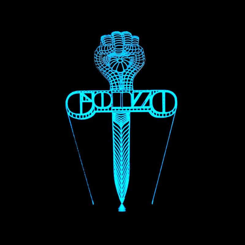 3D Led визуальное прикроватной тумбочке сна Usb Творческий 7 цветов изменения игровой крест ночник меч настольная лампа для ребенка Подарки на ...