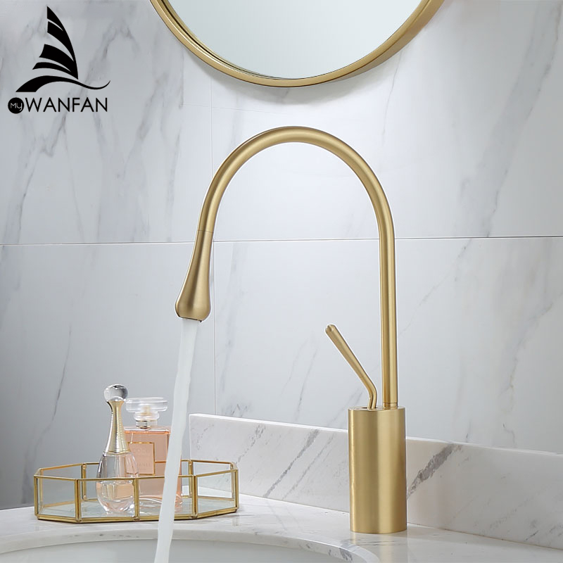 Basin Faucets Modern Black Bathroom Faucet Waterfall faucets Single Hole Cold and Hot Water Tap Basin