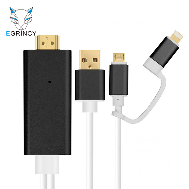 Hdmi Cable For Iphone Android Type C To Hdmi Hdtv Adapter