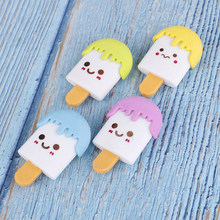 Art School Supplies Office Stationery kawaii 2pcs Rubber Cute Ice Cream Eraser Novelty Creative Pencil Correction Supplies(China)