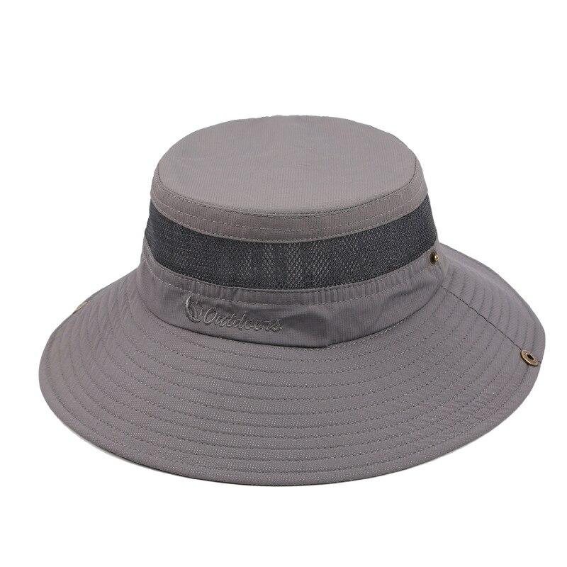 Регулируемые дышащие Спорт на открытом воздухе Кепки для рыбалки Шапки для человека УФ-защитой широкими полями Защита от Солнца шапки ripstop ...