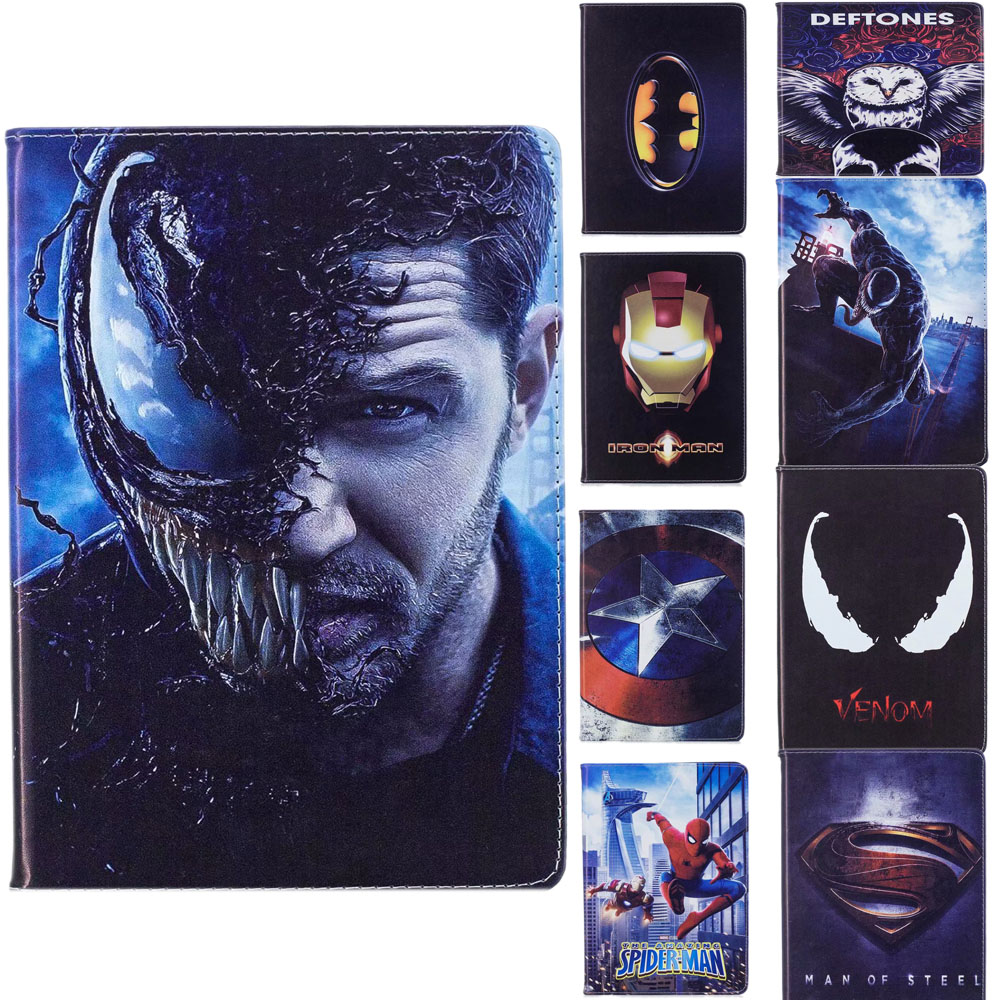 For Superhero Ironman Batman Cover For Apple New iPad 9.7 2017 2018 Case Leather ProtectiveFor iPad Air 1/2 iPad 5/6|Tablets & e-Books Case| |  - title=