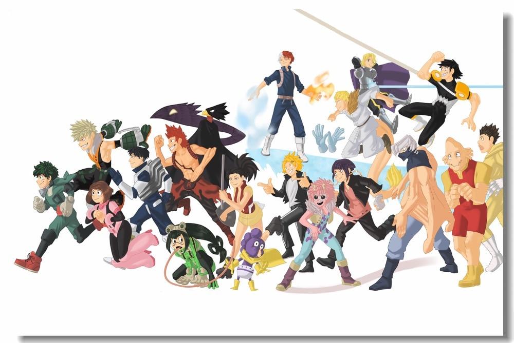 Us 575 28 Offcustom Canvas Wall Mural Deku Evolution Midoriya Izuku Poster My Hero Academia Wallpaper Japanese Kid Anime Movie Sticker 0873 In