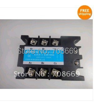 Three Phase 3Phase DC AC Solid State Relay SSR-100A 100A free shipping 2pc 100a industrial single phase ac dc ac single phase solid state relay 100a zyg d48100 dc control ac 100a