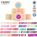 CANNI Gel Lacquer 5ML 141 Pure Colors Optional UV Gel Manicure Nail Art Tips Polish Design DIY Color Painting Gel Soak Off 12PCS