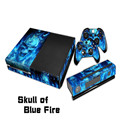 Blue Skull Fire Full body Decal Skin Sticker Protector For Microsoft For Xbox one Console Durable Accessories