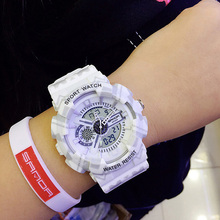 New Fashion LED Digital Watches Women Luminous Dual Display Ladies Wristwatch Casual Sports Montre Femme Relogio Feminino 2019