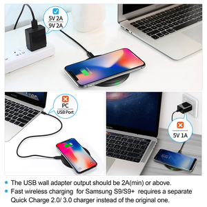 Image 5 - CHOETECH 10W צ י אלחוטי מטען עבור iPhone 12 X Xs Xr 8 מהיר טעינה אלחוטי pad עבור AirPods סמסונג גלקסי 9 S10 S9/S9
