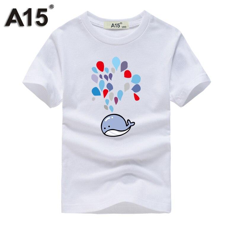 A15 дети Топы для девочек детей Футболки для Обувь для мальчиков короткий рукав Летние футболки милый сердцу печати рубашка Топы корректирую...