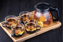 Tee-Set 5 teile/satz 1 stück Teekanne 4 stücke Tee Tasse Tee Wasserkocher Glas Teekanne Infuser Gaiwan Glas Wasser flasche Glas Teekanne.