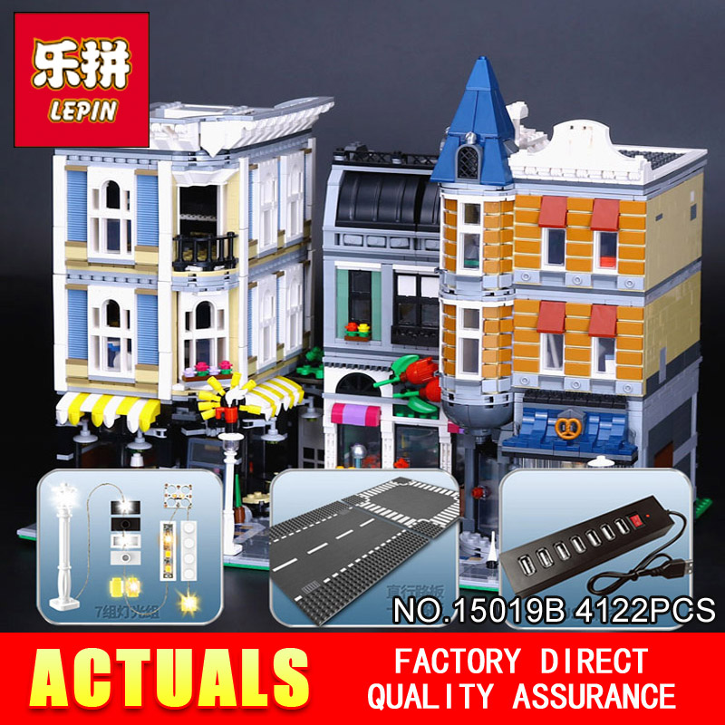 Lepin 15019B Streetview Series 10th Anniversary 10255 The Assembly Square with Light Version Set Building Blocks Bricks Boy Toys fundamentals of physics extended 9th edition international student version with wileyplus set