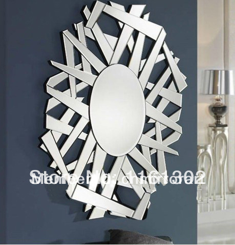 Broken design round wall mirror art MR-201151 & Broken design round wall mirror art MR 201151-in Decorative Mirrors ...