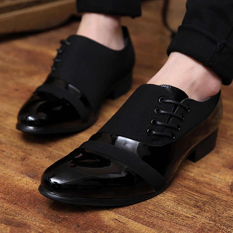 Дизайнерские модельные туфли-оксфорды для мужчин; итальянская обувь из лакированной кожи черного цвета; Роскошные брендовые Свадебные официальные мужские туфли; zapatillas hombre