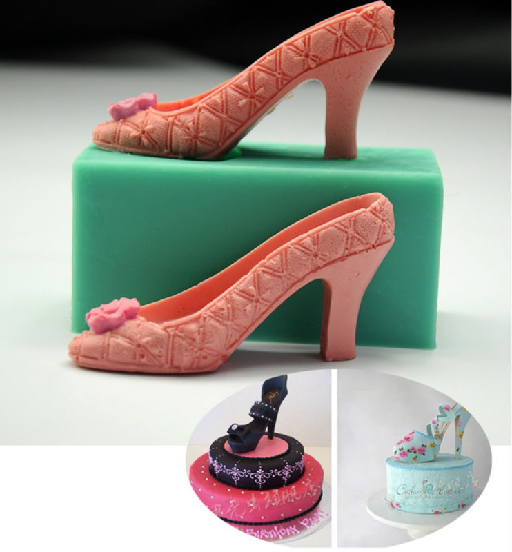 Buy fashion girl high heeled shoes for 3d printer cake decoration