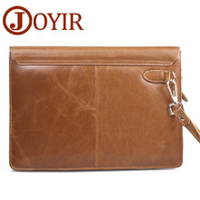 JOYIR Luxury Men Clutch Bag Big Capacity Genuine Leather Men Bag Envelope Handbag Male Coin Purse Day Clutches Wallet Bag