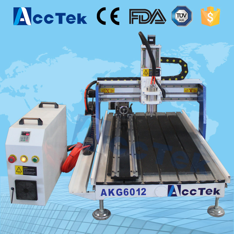 Petit artisanat faisant pas cher prix portable bois CNC sculpture routeur machine 6012 MDF bois travail machine