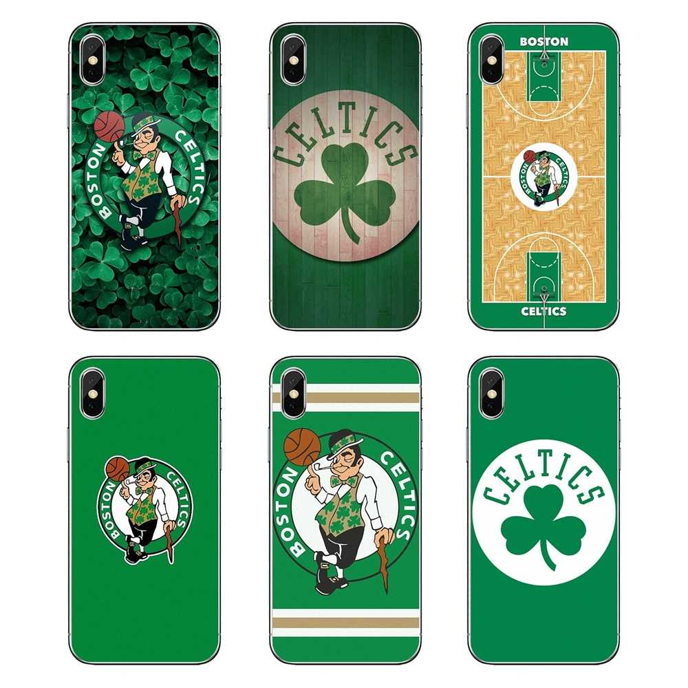 Transparent Soft Cases Covers Boston Celtics For iPod Touch iPhone 4 4S 5 5S 5C SE 6 6S 7 8 X XR XS Plus MAX