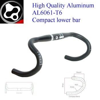 FOURIERS High Quality Aluminum AL6061-T6 Road Bike Handlebar Drop Bar Compact Bend Bicycle Bent Bars