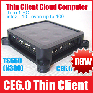 TS660 Win CE 6.0 Thin Client Net Computer Mini PC Share Sharing Station Network Terminal with 3 USB Ports Free Shipping