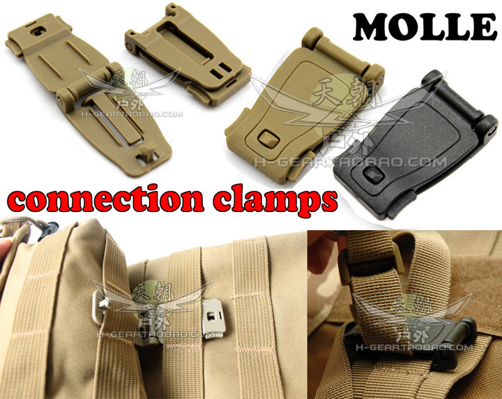 Molle webbing connect buckle clip molle tactical vest clothing tactical backpack buckle