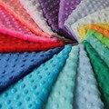 Бесплатная Доставка горячий продавать minky ткань Для DIY швейные ткани белого цвета Продавец Метр 26 Цветов В Наличии.
