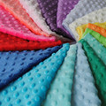 Free Shipping hot selling minky fabric  For DIY sewing fabric white color Sold By Meter 26 Colors In Stock.
