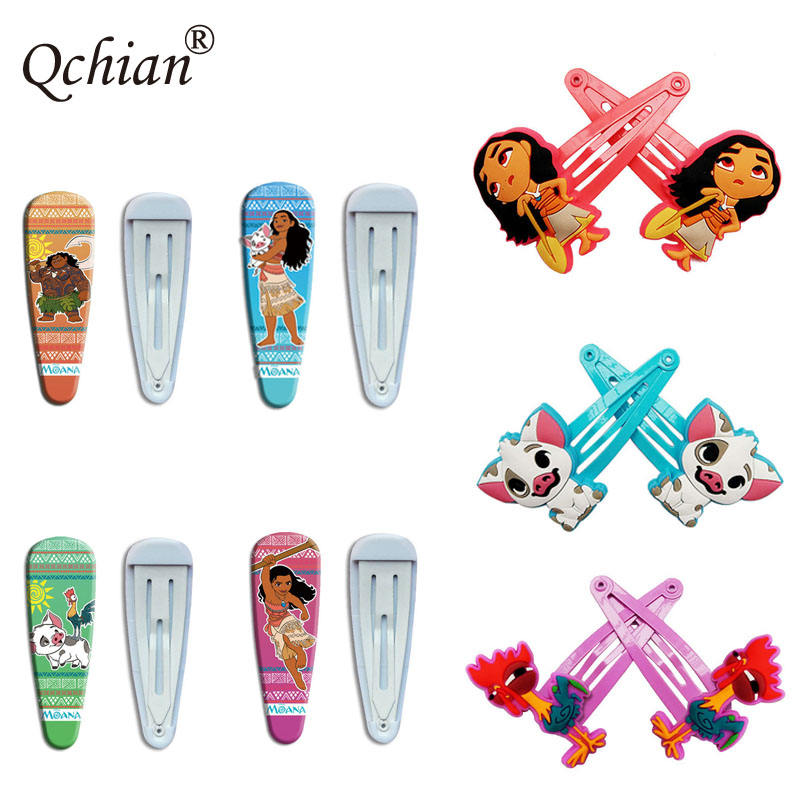 Ocean Princess Moana and Her Good Friends Photo Series Hair Clip Hair Accessories Simple Beautiful Birthday Gift for Kids