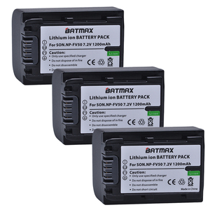 Câmera Li-ion para Sony NP FV50 NP-FV50 FV50 3-Pack HDR-CX150E CX170 CX300 D6544, para sony NPFV50 acessórios