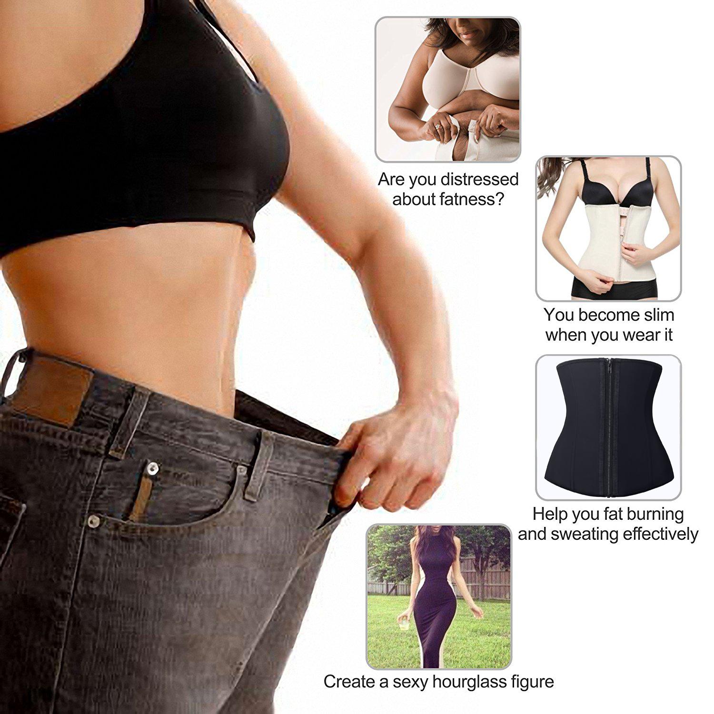 08f499e6eb 2019 NINGMI Modeling Belt Women Rubber Waist Trainer Slimming Body ...