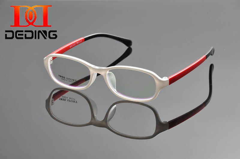 DEDING New Style Double Color Attractive Safe TR90 Students Anti-derrapante Prescription Eye Glasses Kids Glasses DD1049