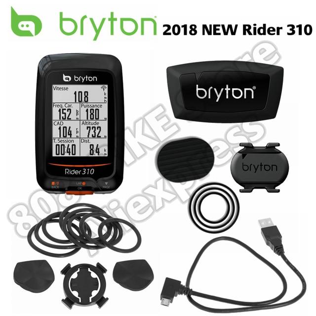 2018 Новый велокомпьютер bryton Rider 310 с поддержкой водостойкие gps велосипед велосипедные компьютеры Спидометр garmin 200 500 510 810 800 крепление