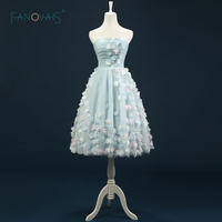 Gorgeous Handmade High Quality Strapless Ball Gown Princess Lovely Real Pictures Ball Gown Short Tulle Cocktail Dress ASAC01
