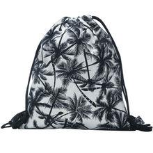 2016 new fashion backpack 3D printing travel softback man women harajuku drawstring bag mens canvas backpacks