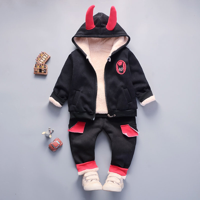 BibiCola New Arrival winter Clothing sets Hooded For Baby Girls Boys Cartoon Devil coat Kid Casual Outerwear Children Clothes анатолий пушкарёв желудок мозг и звёздное небо