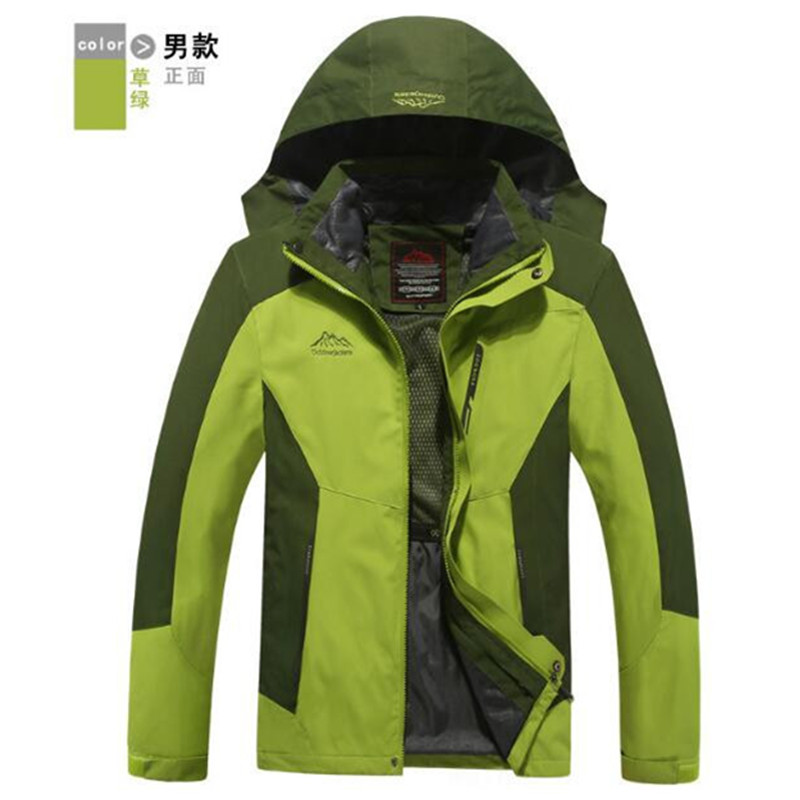 ФОТО Waterproof Outdoor Jacket Men Women Lovers 3 In 1 Windproof Thermal Hardshell Hiking Jackets Windstopper Breathable Winter Coats