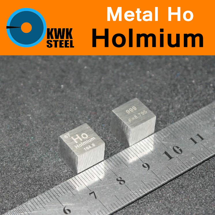 Ho Holmium Cube Coin Block Bulk Pure 99.9% Periodic Table of Rare-earth Metal Elements for Research Study Education Collection makhsuda abdusalyamova and safarali gadoev antimonides of rare earth elements