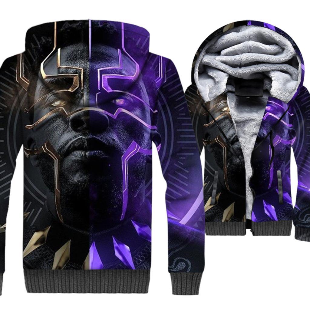Black Panther Movie Men 3D Hoodies 2019 Hot Sale Winter Warm Fleece Thick Jackets Casual Sweatshirts Harajuku Long Sleeve Hoody in Hoodies amp Sweatshirts from Men 39 s Clothing