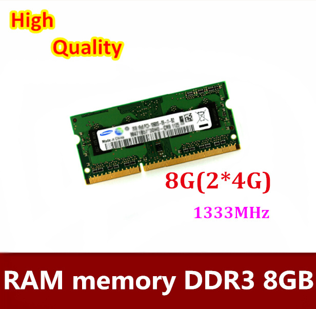Free shipping   1Pairs  4G 8G(2X4G) DDR3  laptop notebook 4GB 8GB(2X4GB) ram memory compatible 1333MHz samsung laptop memory ddr3 4gb 1333mhz pc3 10600s notebook ram 10600 4g