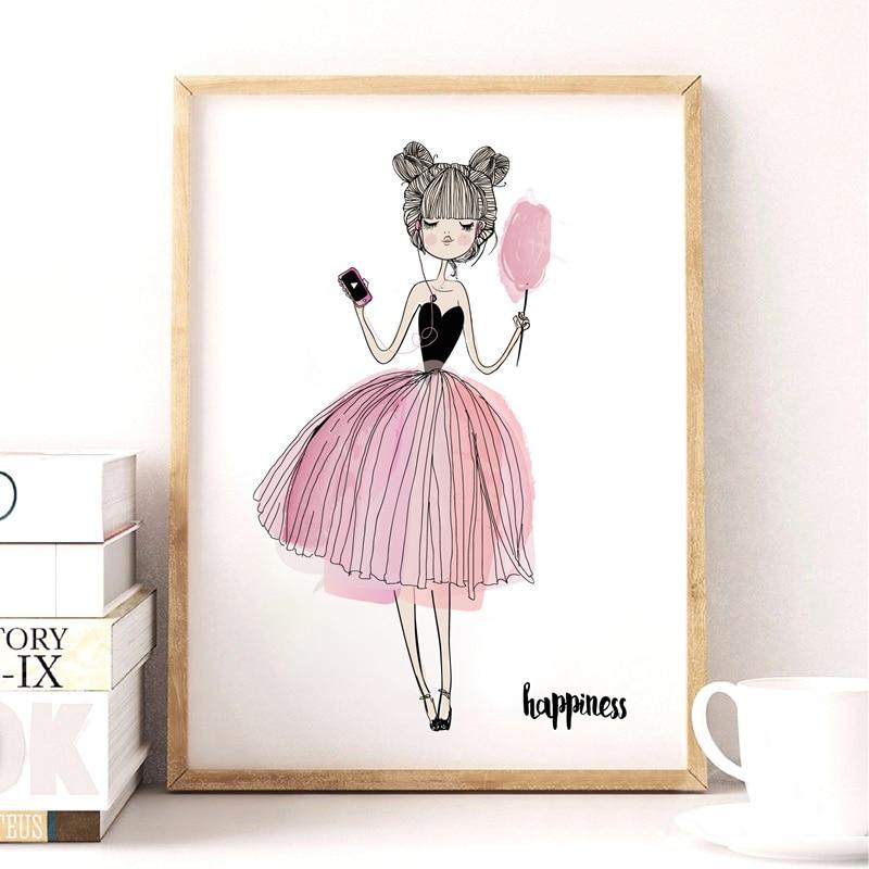 Акварель дівчата полотно мистецтва - Домашній декор - фото 4